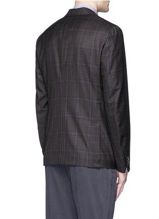 Back View - Click To Enlarge - ISAIA - 'Cortina' check wool blazer