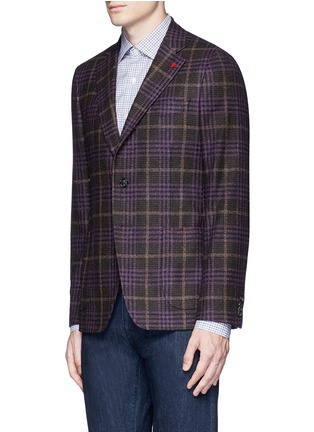 Front View - Click To Enlarge - ISAIA - 'Cortina' Glen plaid wool-silk-cashmere blazer
