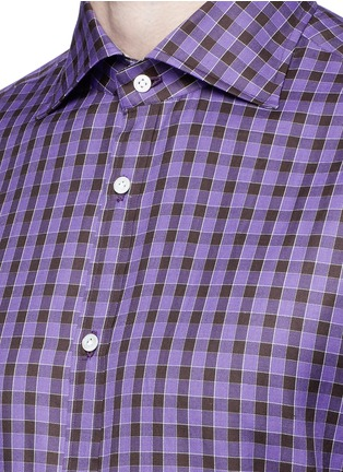 Detail View - Click To Enlarge - ISAIA - 'Como' check cotton shirt