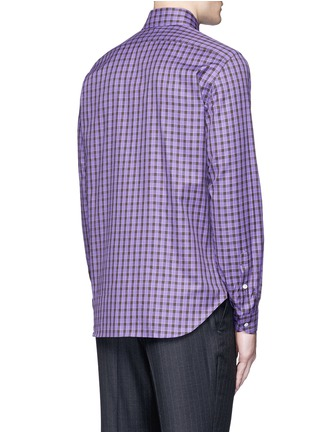 Back View - Click To Enlarge - ISAIA - 'Como' check cotton shirt