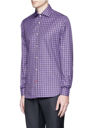 Front View - Click To Enlarge - ISAIA - 'Como' check cotton shirt