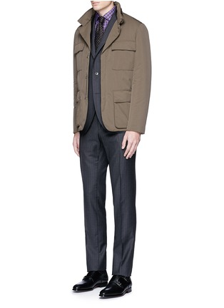 Figure View - Click To Enlarge - ISAIA - 'Como' check cotton shirt