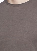 Silk-cotton blend T-shirt