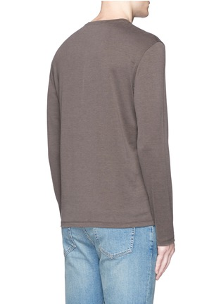 Back View - Click To Enlarge - ISAIA - Silk-cotton blend T-shirt