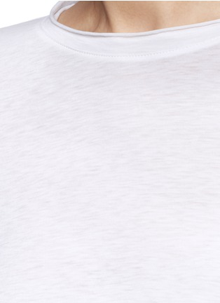 Detail View - Click To Enlarge - Helmut Lang - Raw cuff T-shirt