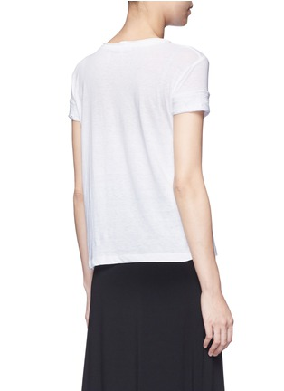 Back View - Click To Enlarge - Helmut Lang - Raw cuff T-shirt