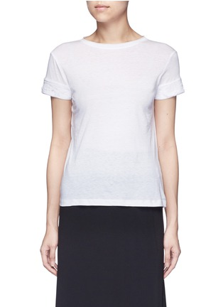 Main View - Click To Enlarge - Helmut Lang - Raw cuff T-shirt