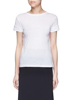 Helmut LangRaw cuff T-shirt
