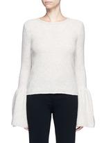Bell cuff cashmere bouclé sweater