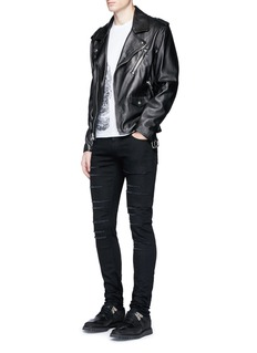 Alexander McQueen Slim fit slashed jeans