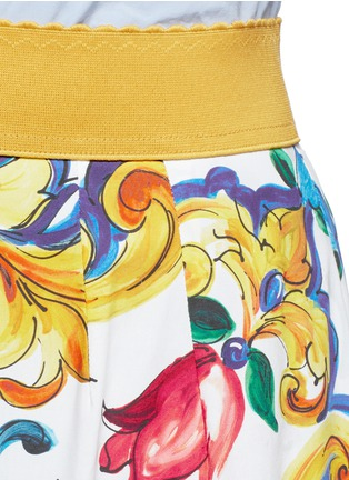 Detail View - Click To Enlarge - Dolce & Gabbana - Maiolica print poplin maxi skirt
