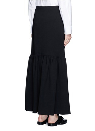 Back View - Click To Enlarge - The Row - 'Rinnah' stretch virgin wool skirt