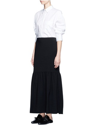 Figure View - Click To Enlarge - The Row - 'Rinnah' stretch virgin wool skirt