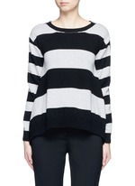 Stripe silk cashmere-wool combo sweater