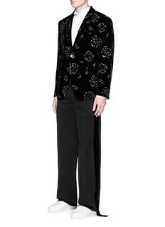 Alexander McQueenGlitter print velvet blazer