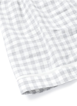 Detail View - Click To Enlarge - Araks - 'Tia' gingham check organic cotton boxer shorts