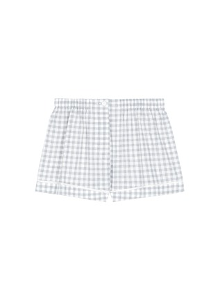 Main View - Click To Enlarge - Araks - 'Tia' gingham check organic cotton boxer shorts