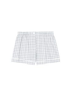 Araks'Tia' gingham check organic cotton boxer shorts