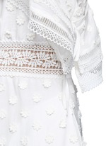 Daisy appliqué cold shoulder maxi dress