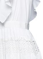 'Victoria' broderie anglaise trim plissé pleat tier dress