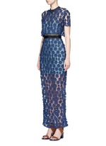 '60's Overlay' floral lace maxi dress
