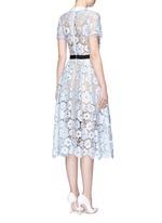 'Flower Garden' contrast panel guipure lace dress