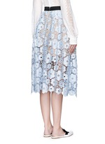 'Flower Garden' guipure lace midi skirt