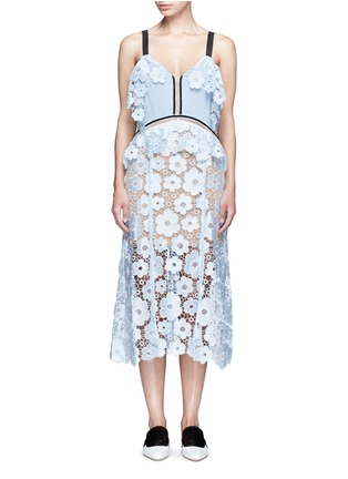 Main View - Click To Enlarge - self-portrait - 'Anemone' floral guipure lace dress