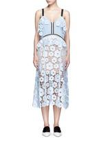'Anemone' floral guipure lace dress