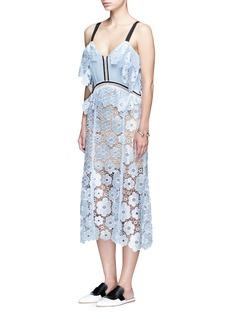 SELF-PORTRAIT'Anemone' floral guipure lace dress