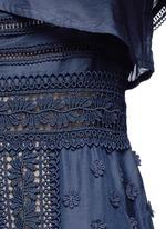 'Bluebell' floral appliqué lace trim dress