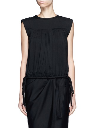 Main View - Click To Enlarge - Isabel Marant Étoile - 'Neo' rouleau loop button shoulder top