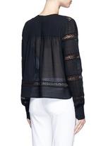 'Rexton' lace insert sheer poplin top