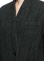 'Henley' herringbone virgin wool boyish coat