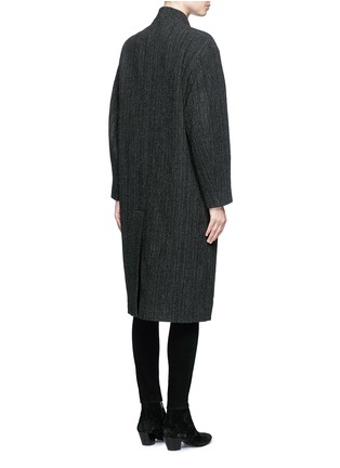 Back View - Click To Enlarge - Isabel Marant Étoile - 'Henley' herringbone virgin wool boyish coat