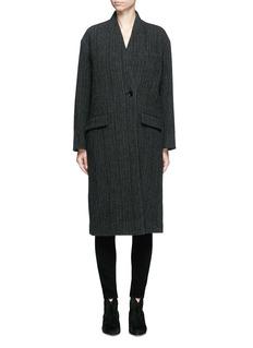 Isabel Marant Étoile'Henley' herringbone virgin wool boyish coat