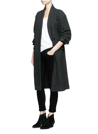 Figure View - Click To Enlarge - Isabel Marant Étoile - 'Henley' herringbone virgin wool boyish coat