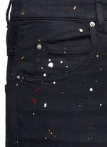 'Ennett' splatter paint print skinny jeans