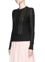 'Kalyn' cotton-wool cable knit sweater