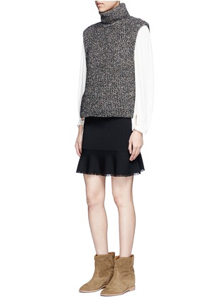 Figure View - Click To Enlarge - Isabel Marant Étoile - 'Haway' turtleneck chunky knit vest