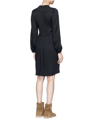 Back View - Click To Enlarge - Isabel Marant Étoile - 'Neil' rouleau loop V-neck dress