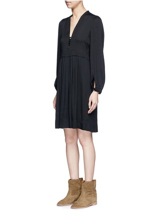 Front View - Click To Enlarge - Isabel Marant Étoile - 'Neil' rouleau loop V-neck dress