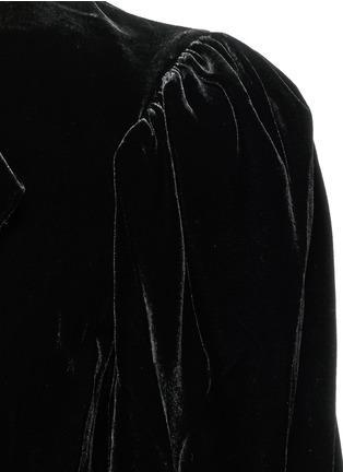 细节 - 点击放大 - ISABEL MARANT ÉTOILE - Lynna深V领单色天鹅绒连衣裙