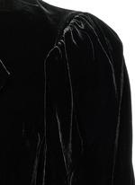 'Lynna' surplice neckline velvet dress
