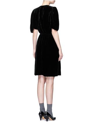 Back View - Click To Enlarge - Isabel Marant Étoile - 'Lynna' surplice neckline velvet dress