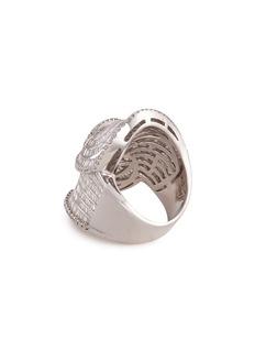 LC Collection Jewellery Diamond 18k white gold swirl ring