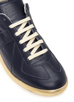 'Replica' metallic sole leather sneakers