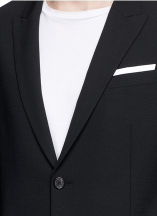 Detail View - Click To Enlarge - Neil Barrett - Peak lapel stretch gabardine skinny fit blazer