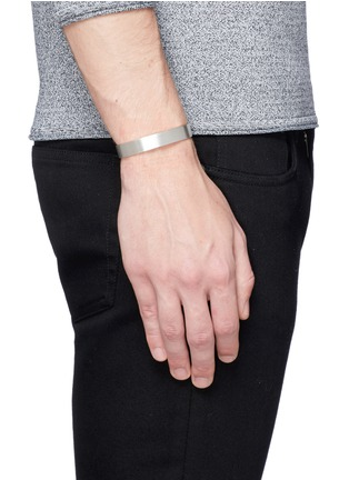 Figure View - Click To Enlarge - Le Gramme - 'Le 33 Grammes' brushed sterling silver cuff