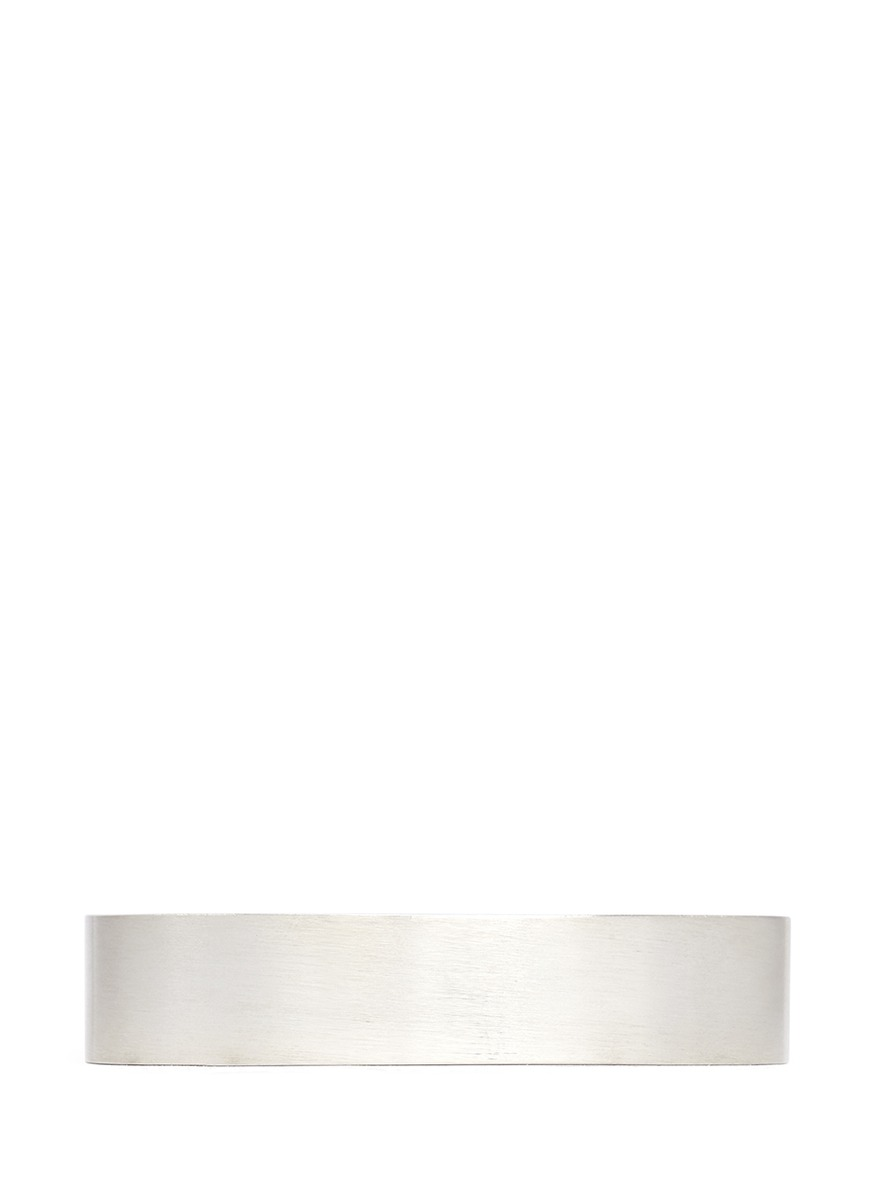 Le 41 Grammes brushed sterling silver cuff by Le Gramme